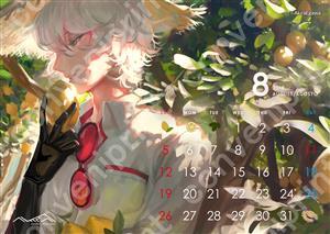 卓上カレンダー 8月 AGOSTO