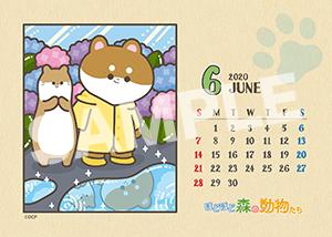 ほど森カレンダー__20年6月 L