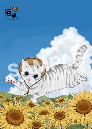 フェリシモ猫部__猫とひまわり